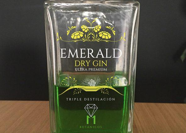 Diseño etiqueta botella de ginebra