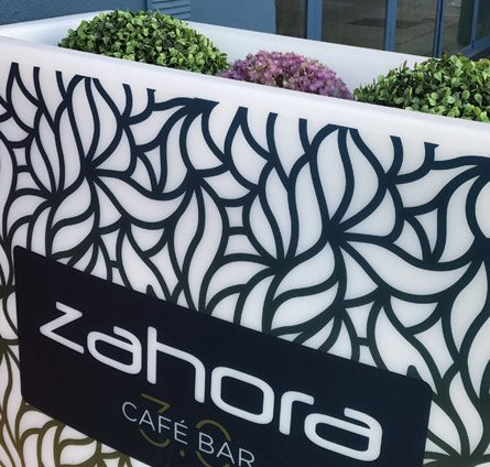 Detalle decoración Zahora Copas