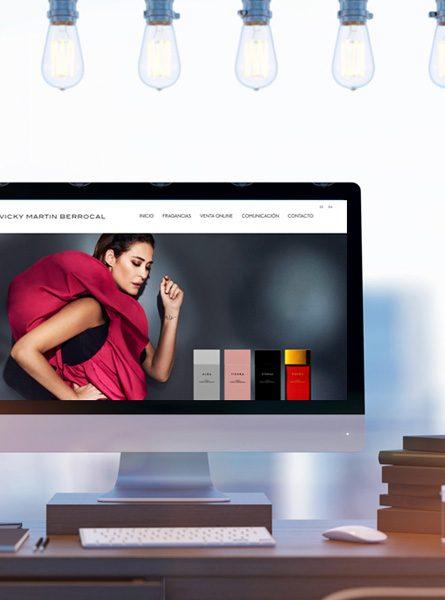 Diseño web de fragancias de Vicky Martín Berrocal