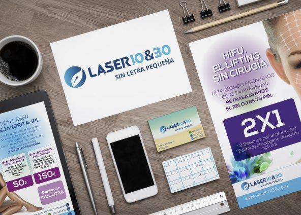 Diseño de logo, tarjetas, flyers, carteles para Laser1030