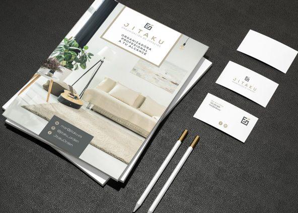 Diseño de logotipo y de flyers para Jitaku
