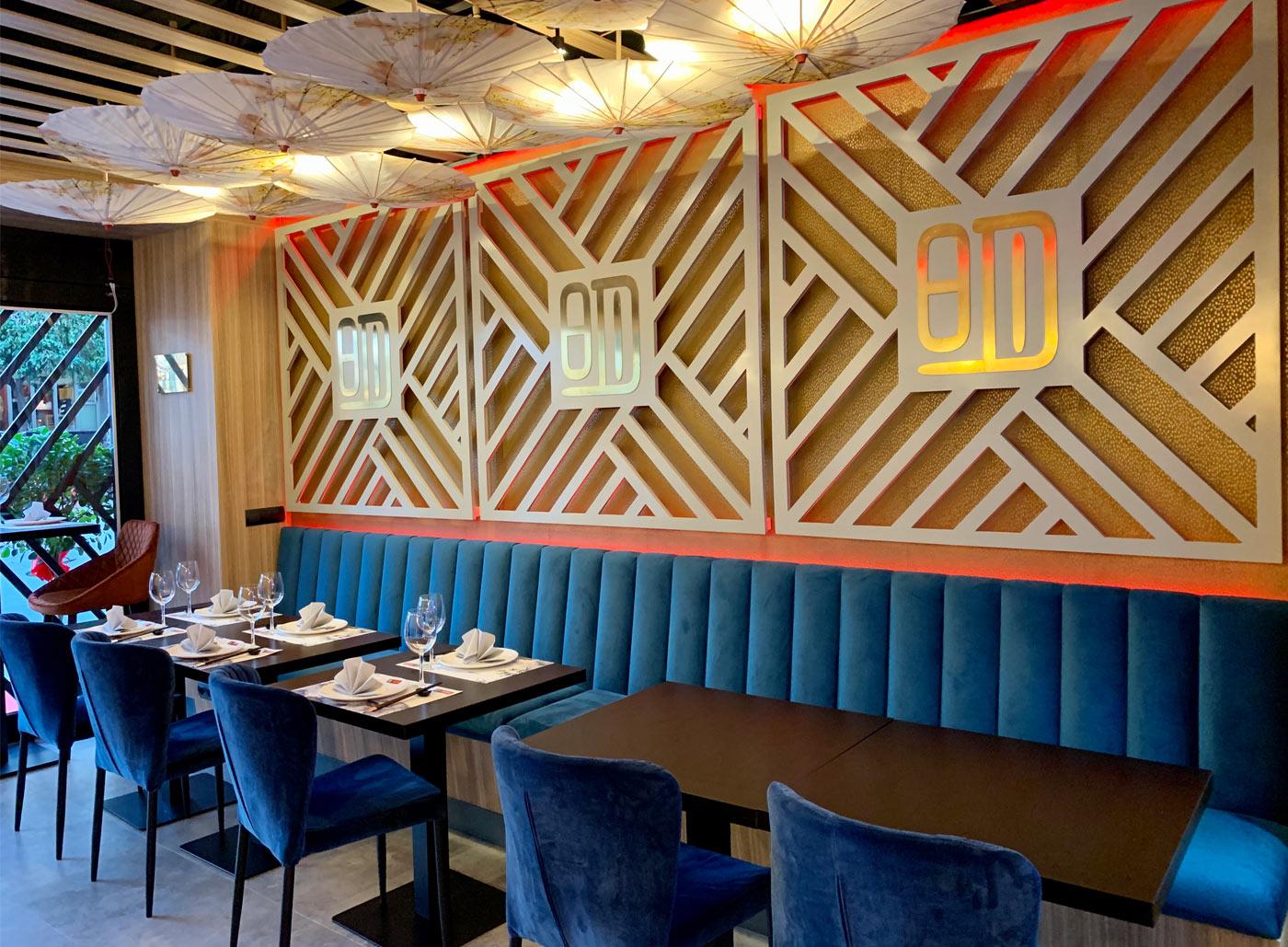 Detalle pared restaurante Ming