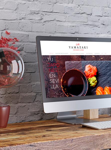 Web restaurante japonés Yamazaki